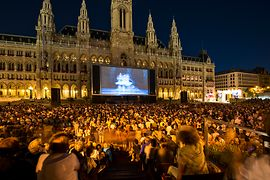 Music Film Festival in front of the City Hall