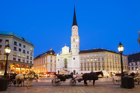 Fiaker am Michaelerplatz