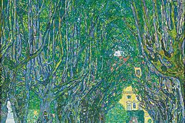 Gustav Klimt: Avenue in the Park of Schloss Kammer, 1912