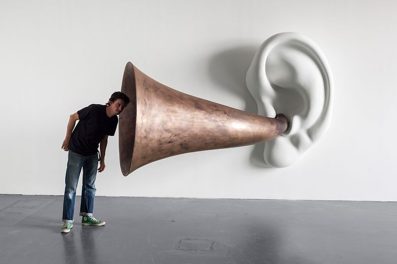 John Baldessari: Beethoven's Trumpet (with Ear) Opus # 133, 2007