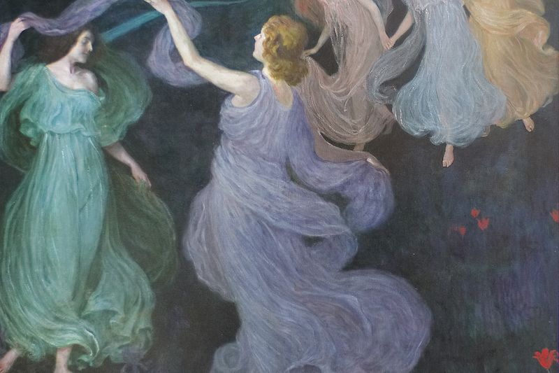 "Josef Maria Auchentaller, Dance of the Elves (after Beethoven's ""Pastoral"" Symphony, 1st movement), 1898/99"