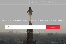 Screenshot, footage data base of the Vienna Tourist Board, Login