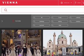 Screenshot, footage data base of the Vienna Tourist Board, Search