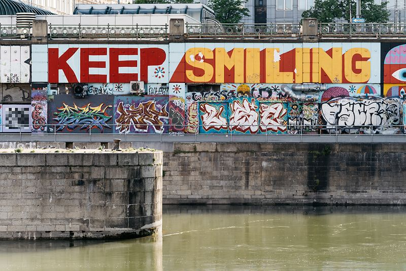 Street Art Vienna, Keep Smiling